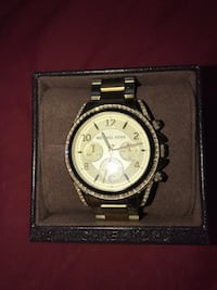 Gold Plated MK watch. Needs battery