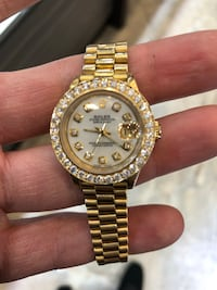 Rolex 18k gold ladies president diamond New York, 10036