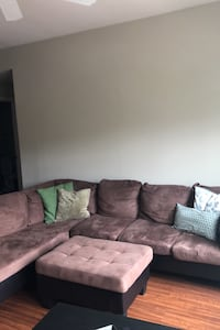 Brown Sectional Couch w/ Ottoman Charlotte, 28270