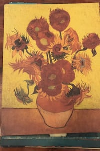 Painting Vase With Twelve Sunflowers By Vincent Van Gogh Poster Boston, 02116