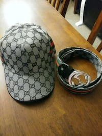 Gucci greay hat and matching belt Calgary, T2A