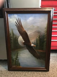 SOARING EAGLE PAINTING IN WOOD FRAME Centreville, 20120