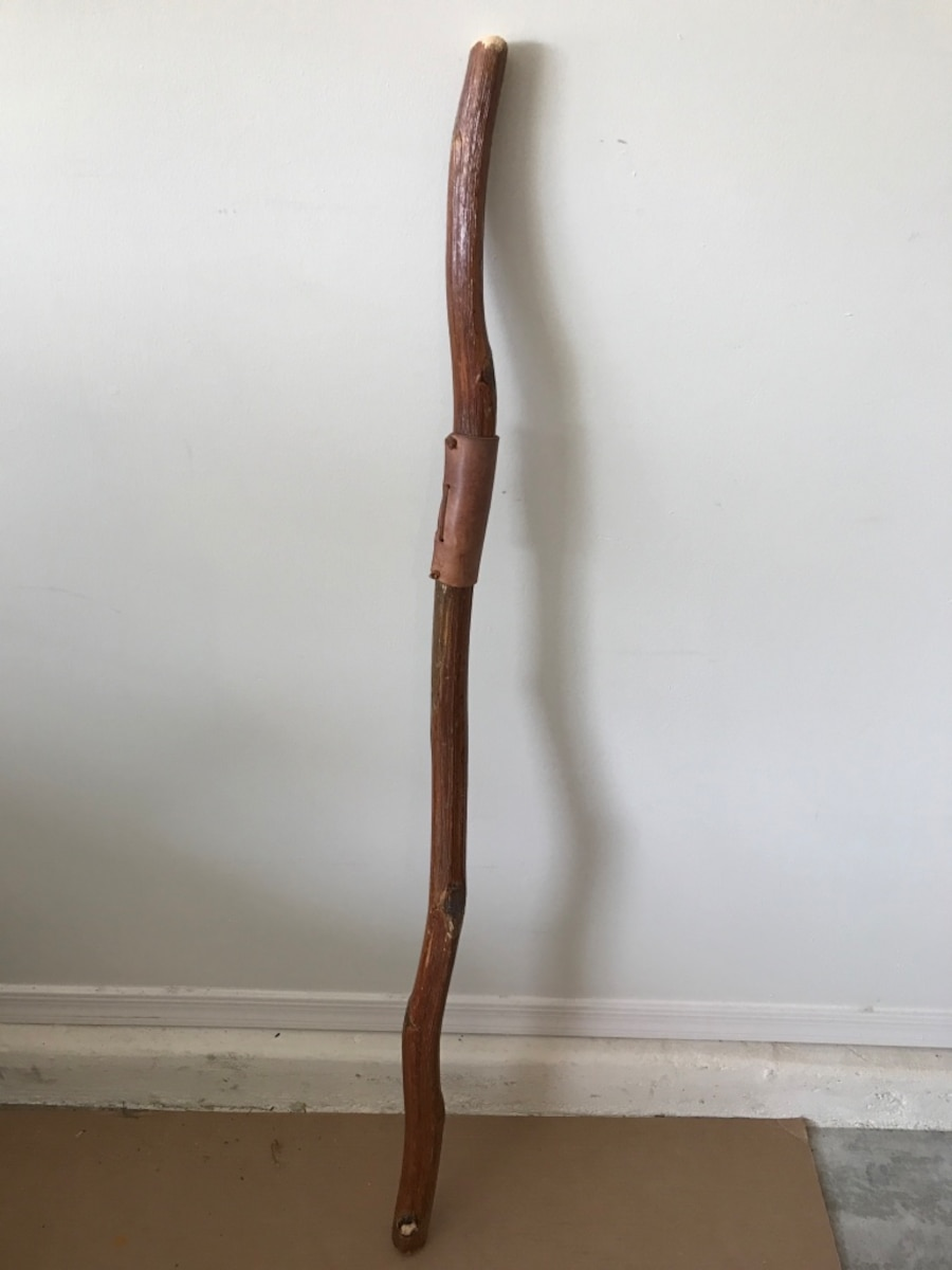 Used Enchanting Vintage Walking Stick With Leather Hand