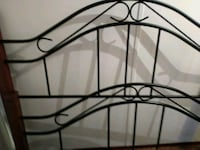 Scrolled wrought iron bed frame quenn 296 mi