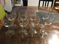 Fo8 clear wine glasses and wine glasses
