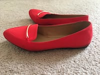 Red flats for women size 8 Schaumburg, 60193