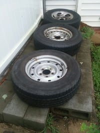 gray bullet hole car wheel with tire set Silver Spring, 20906