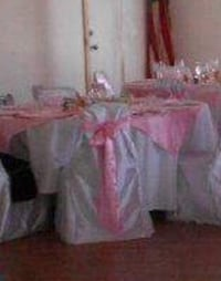 white and pink chair covers  Myrtle Beach, 29579