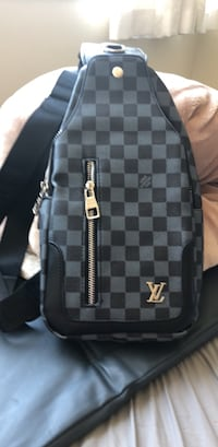 black and gray checkered backpack Vancouver, V6P 2X3