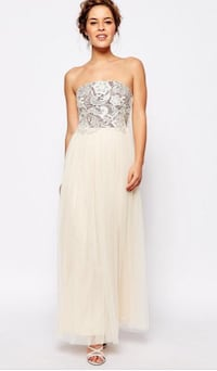 Strapless Bridesmaid/ Prom Dress