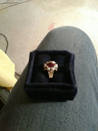gold-colored ring with red gemstone Colorado Springs, 80917