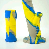 pair of blue-and-yellow open toe pumps Reno, 89512