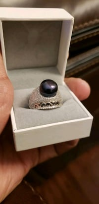 Pearl Ring for women - sterling silver