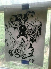 white and black drawing  Nederland, 80466