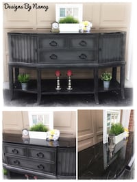 Stunning Black Marble Top Sideboard/Buffet!  Whitby, L1P 1L9