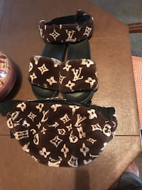 Lv fannypack headband and slippers size 10 can be sold separately if need a different size contact can be made to order  Stockton, 95219