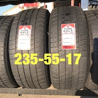 2 used tires 235/55/17 Uniroyal