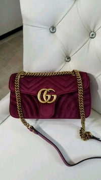 Gucci velvet marmont cross body bag with  box Mississauga, L5W 1P1