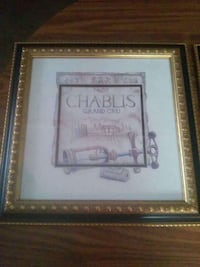 Chablis grand gru poster with brass frame Leland, 28451
