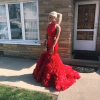 Sherri hill two piece red prom dress size 2 Chicago, 60652