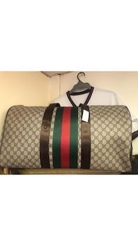 Brown and black Gucci duffel bag Montréal, H4M 1N5