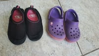 pair of purple Crocs rubber clogs London, N6G 5R6