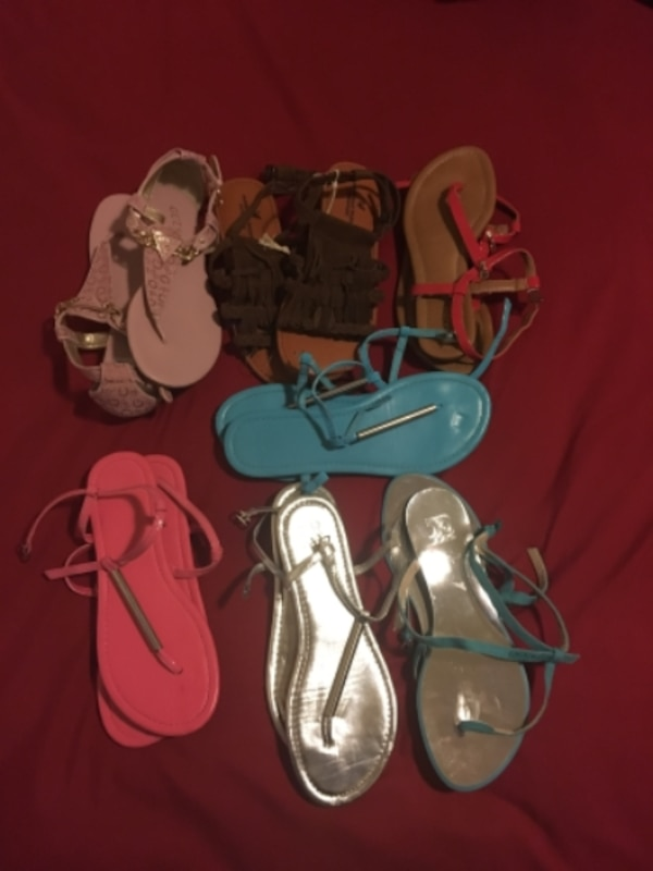 women's assorted pairs of sandals