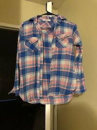 blue, white, and red plaid sport shirt Fallbrook, 92058