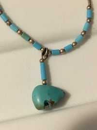 Polar bear turquoise necklace Airdrie, T4B 3X4