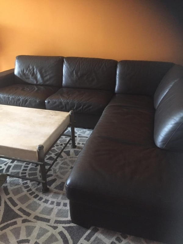 L Shape Dark Brown Leather Sofa Made By Italsofa