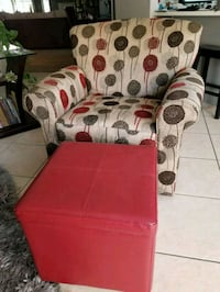 Swivel chair and ottoman with tray Chandler, 85224