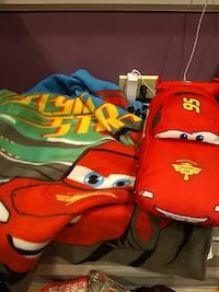 Cars pillow and blanket