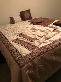 white and brown bed comforter set Southaven, 38671