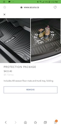 Acura tlx weather protection mats Toronto, M1G 3T5