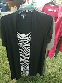 black and white v-neck shirt San Antonio, 78216