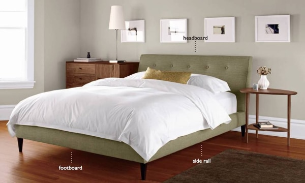 Room And Board Hoffmann Queen Upholstered Platform Bed Frame Only
