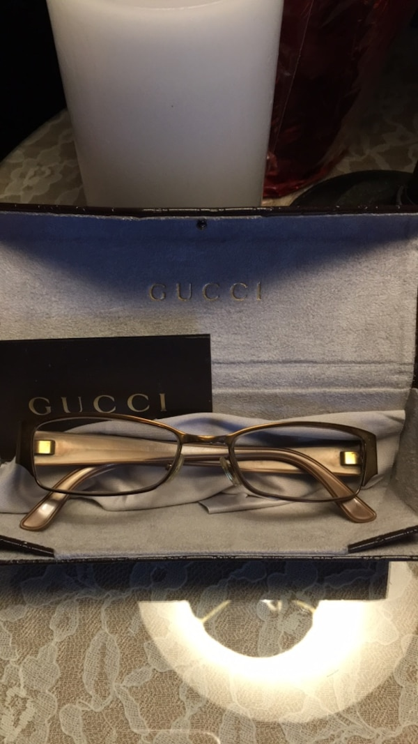 56831b32dca31 Used Authentic Gucci eyeglasses with new case