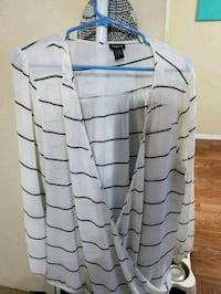 gray and black stripe button-up long sleeve shirt El Paso, 79936