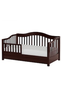 This handsomely designed, durable, solid wood toddler bed, looks like a day bed but is low to the floor for your toddlers convenience plus has the security of a safety rail to prevent accidental falls while sleeping. It features a roomy storage drawer und Boca Raton, 33434