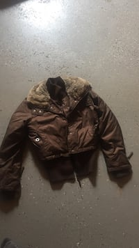 brown zip-up fur jacket Edmonton, T5Y 3K6
