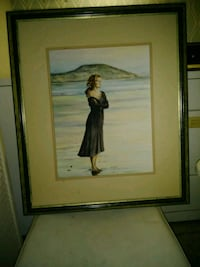 brown wooden framed painting of woman Sarasota, 34239
