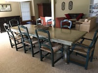 Custom painted Dining table with 8 chairs  Sandy Spring, 20860