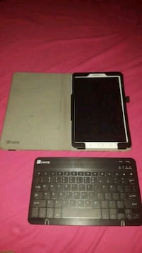 White Samsung Galaxy Tab E with Tree Keyboard Case Chatham-Kent