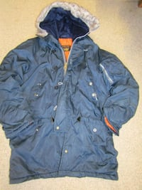 Mens size l blue zip-up coat London