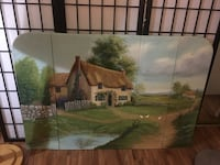 Hand painted fireplace screen 2248 mi