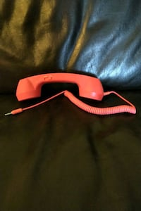 Red Retro Phone that plugs into cell n electronics