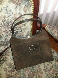 brown and black leather handbag Vallejo, 94589
