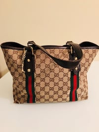 brown and black Gucci leather tote bag Rockville, 20852