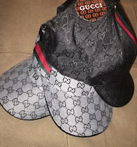 Black and gray gucci monogram fitted cap Montreal