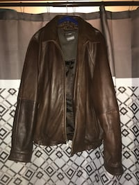 Wilson's brown leather jacket men's size large Franklin, 15909